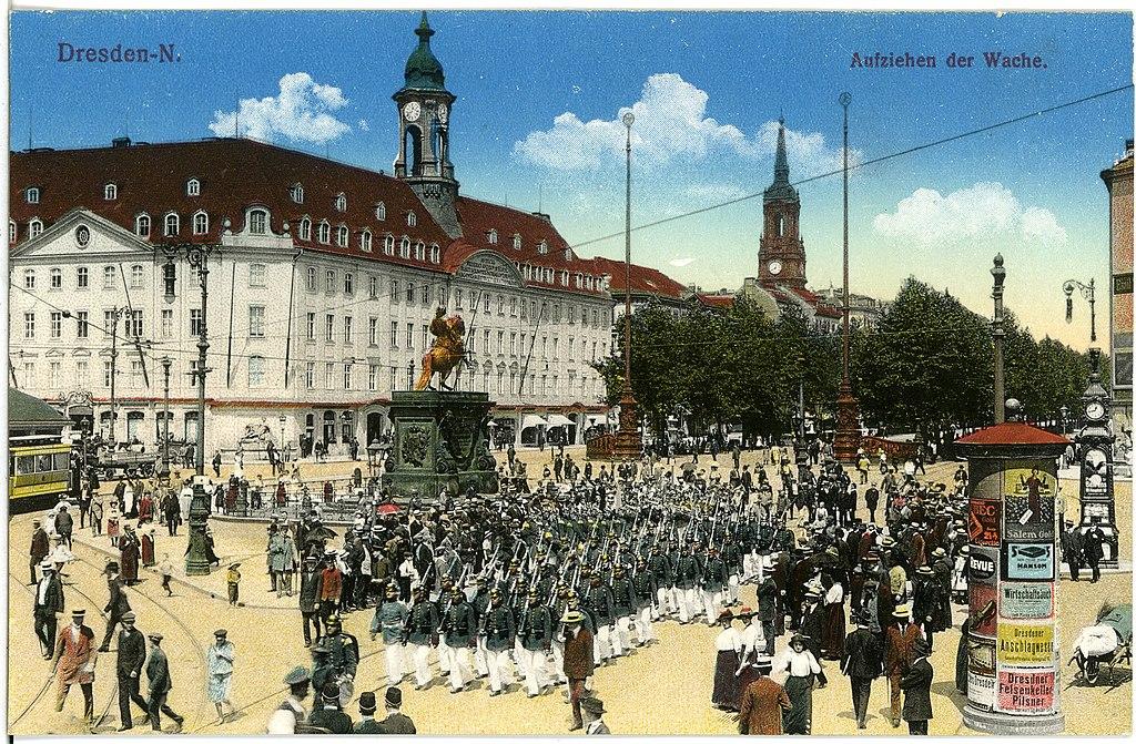 17995-Dresden-1914-Aufziehen der Wache, Hauptstraße-Brück & Sohn Kunstverlag.jpg