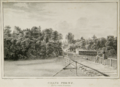 1830 drawing of Gray's Ferry Bridge by George Lehman.png