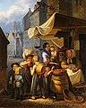 1842 Georg Durand Marktszene in München, Öl auf Holz 42 x 34 cm.jpg
