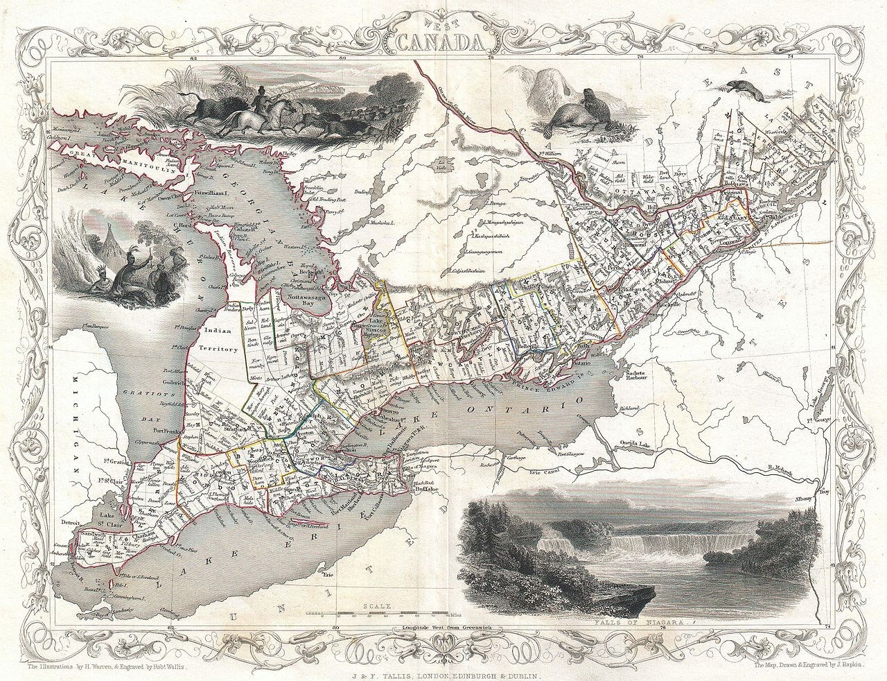 File:1850 Tallis Map of West Canada or Ontario ( includes Great ...