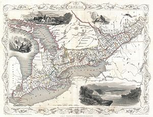 Huron County, Ontario - Image: 1850 Tallis Map of West Canada or Ontario ( includes Great Lakes ) Geographicus West Canada tallis 1850