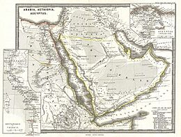 1865 Spruner Map of Arabia and Egypt in Antiquity - Geographicus - Arabia-spruner-1865.jpg