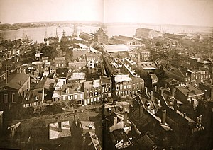 Sparks Shot Tower - Image: 1870 Panorama from Sparks Shot Tower