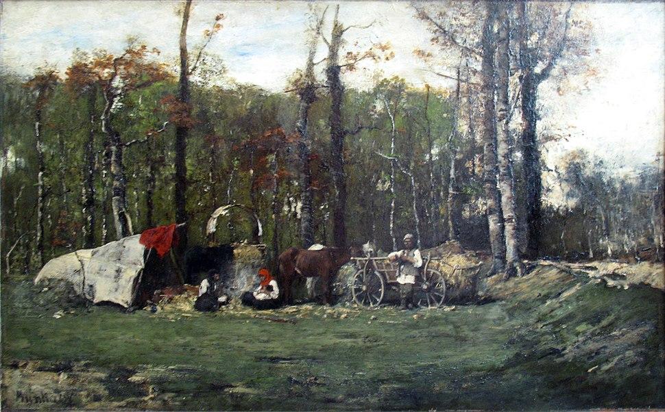 1878 Mihaly Munkacsy Zigeunerlager anagoria