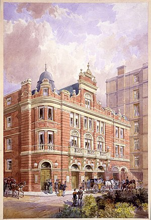 Savoy Theatre - Original façade of the Savoy Theatre, 1881