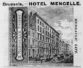 1885 Hotel Mengelle Brussels ad Harpers Handbook for Travellers in Europe.png