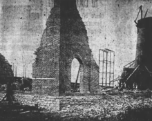 Image showing a building damaged so badly that only the corner remained standing