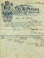 1901-02-20 G. W. Peters Rechnungsvordruck an Chr. Müller in Duingen.tif