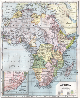 Colonisation of Africa - A map of Africa in 1910