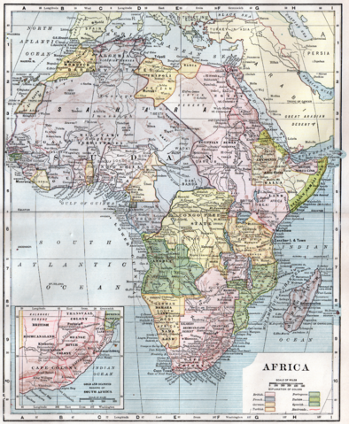 Map of Africa 1904