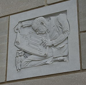 Henry Stanley Plummer - Architectural detail representing Plummer on the Plummer Building.