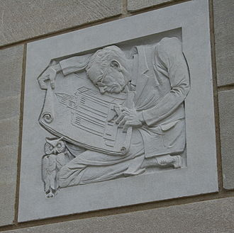 Henry Stanley Plummer - Architectural detail representing Plummer on the Plummer Building.