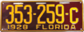 1928 Florida license plate.png