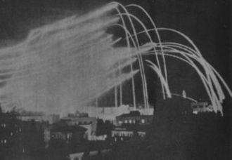 Arab Legion - Arab Legion artillery shells illuminate Jerusalem in 1948