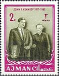1964 stamp of Ajman JFK 5a.jpg