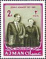 1964 stamp of Ajman JFK 5a.jpg
