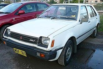 Mitsubishi Mirage - Pre-facelift Mitsubishi Colt 5-door (Australia)