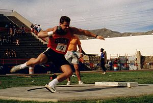 Brent Noon - Noon at the UTEP Sierra Medical invitational meet, 1994.
