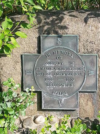 1st Maine Volunteer Infantry Regiment - Memorial to Company K of the First Maine Volunteer Infantry in the Spanish–American War, Brunswick, Maine