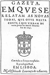 Primeiro jornal Português