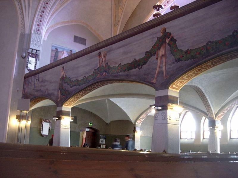 File:2003-03-29 Tampere Kathedrale Gemälde an Galerie.jpg