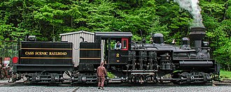 Cass Scenic Railroad State Park - Image: 2003 05 16 Cass RR Shay Engine, Cass, WV USA