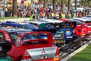 Rally de Catalunya - WRC cars at the 2005 event.