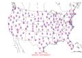 2006-06-07 Max-min Temperature Map NOAA.png