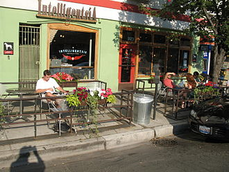Sidewalk cafe - Sidewalk cafe outside an Intelligentsia Coffee & Tea coffee shop