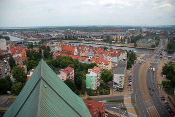 Polski: Widok na Łasztownię