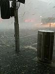 2010 Melbourne hailstorm Flinders Street.jpg