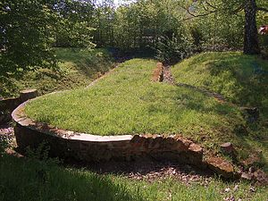 Saarbrücken - Ruins of the Roman camp Römerkastell