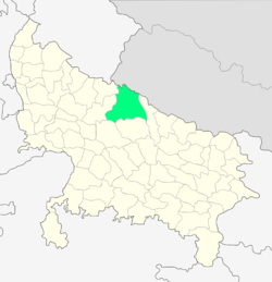 Location of Lakhimpur Kheri district in Uttar Pradesh