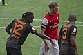 2013 Emirates Cup, Drogba, Melo and Mertesacker.jpg