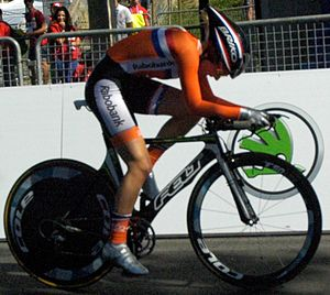 2013 UCI Road World Championships – Women's junior time trial - Demi de Jong finished sixth.