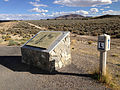 2014-10-08 15 32 45 Historic marker for the Lincoln Highway and the Eureka Mining District along U.S. Route 50 near Eureka, Nevada.JPG