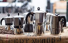 What Is Rubber Made Of >> Moka pot - Wikipedia