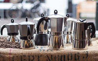 Moka pot - Several models of Bialetti moka pots