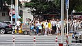 2016-08-13 People Crossing Jingshan Front Street at North of Forbidden City in Beijing anagoria.jpg