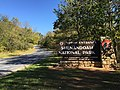 "2016-10-25 13 56 01 ""North Entrance - Shenandoah National Park"" sign at the north end of Shenandoah National Park's Skyline Drive in Warren County, Virginia.jpg"