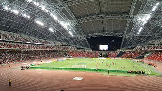 National Stadium, Singapore - An estimated 11,900 spectators at the National Stadium for Tampines Rovers FC vs Selangor FA during the 2016 AFC Cup group stages on 10 May 2016.
