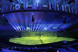 Olympic Games ceremony - A scene from the opening ceremony of the Rio 2016 Summer Olympics.
