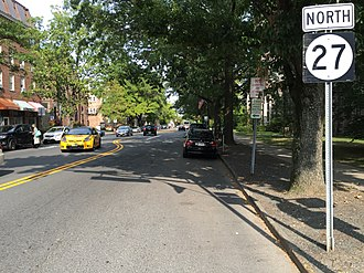 New Jersey Route 27 - Route 27 on Nassau Street in Princeton.