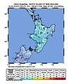 2018-10-30 Waitara, New Zealand M6.1 earthquake shakemap (USGS).jpg