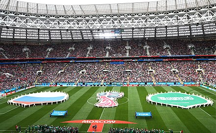 Ceremonia previa al partido inaugural de Rusia contra Arabia Saudita. 296938106d600