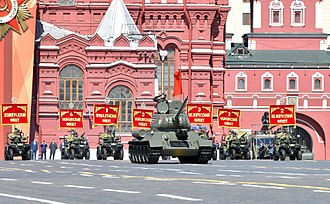 2018 Moscow Victory Day Parade - A T-34/85 medium tank on Red Square.