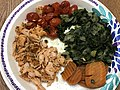 2021-01-02 17 02 06 A plate of cherry tomatoes, salmon, spinach and carrots in the Franklin Farm section of Oak Hill, Fairfax County, Virginia.jpg