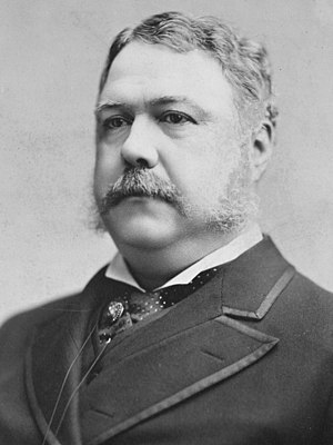 English: Chester A. Arthur, President of the U...