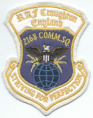 RAF Croughton - 2168 Communications Squadron Patch.