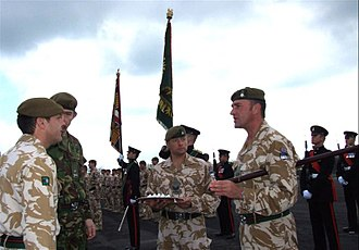 Brigade Insignia of the British Army - Afghanistan Service Medal Parade, note 52nd Infantry Brigade insignia